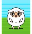 Kawaii sheep character vector