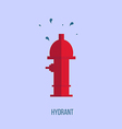 Hydrant in a flat style vector