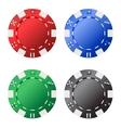 Four gambling chips vector