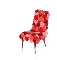 Love chair red for your design vector