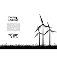 Abstract with wind turbines green energy concept vector