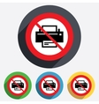 Do not print sign icon printing symbol vector