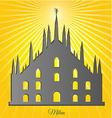 Milan cathedral design vector