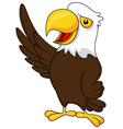 Eagle cartoon waving vector