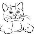 Cat - black outline vector