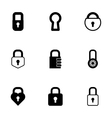 Black locks icons set vector