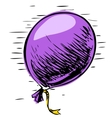 Party balloon with ribbon vector