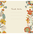 Border with abstract hand-drawn flowers vector