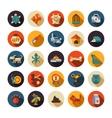 Set of flat design pet shop icons vector