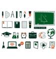 Set of school supplies vector