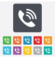 Phone sign icon support symbol vector