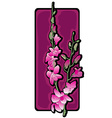 Long orchids clip art purple vector
