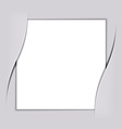 Blank white square paper vector