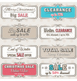 Christmas banners with sale offer vector