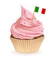 Italian cupcake vector