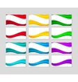 Set of business cards with abstract colorful waves vector