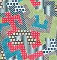 Colorful retro textile seamless pattern vector