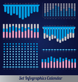 Detail infographic calendar vector