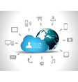 Cloud computing concept background vector