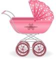 Pink pram vector