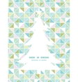 Colorful pastel triangle texture christmas tree vector