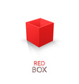 Red box isolated on white background vector