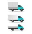 Cargo truck pickup and tent vector