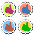 Thumb up labels vector