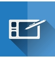 Graphic tablet flat icon vector
