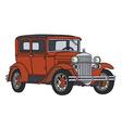 Red vintage car vector