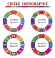 Colorful round infographic elements vector