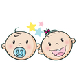Baby faces vector