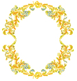 Decorative round frame ornamental floral vintage vector