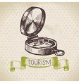 Vintage sketch tourism background vector
