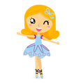 Cute ballet dancer girl vector