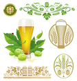 Set - beer hop and brewing vector