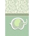 Vintage doodle elephant for frame wallpaper vector