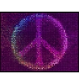 Peace sign multicolor abstract lights background vector
