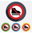 No roller skates sign icon rollerblades symbol vector