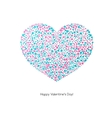 Valentines card with heart vector