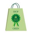Eco shopping bag vector