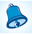 A bell with the world vector