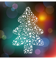 Christmas tree from symbols vector