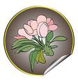 Apple flower sticker grey vector