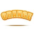 Label for orange juice or fruits bright premium vector