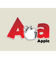 Fruits and vegetables alphabet - letter a vector