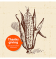 Hand drawn vintage thanksgiving day sketch vector