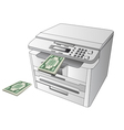 Printing money vector