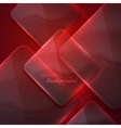 Abstract red background with transparent glass vector