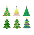 Abstract christmas tree set vector